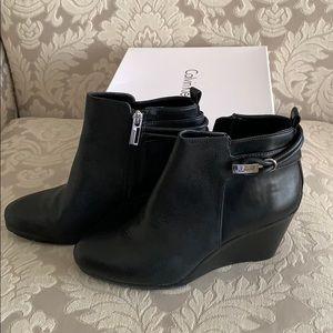 Calvin Klein black leather bootie